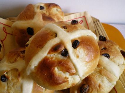 Recette de brioches de pâques ou hot cross buns