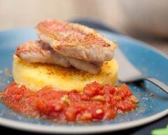 Recette polenta, rougets et rougail