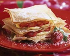 Recette millefeuilles de fraises