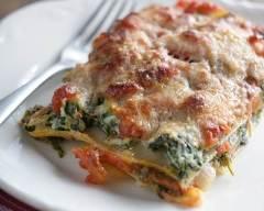 Recette lasagnes aux épinards, fromage à raclette et tomates