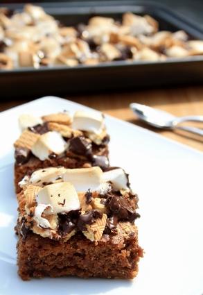 Recette de brownie façon s'mores (à la guimauve et chocolat)
