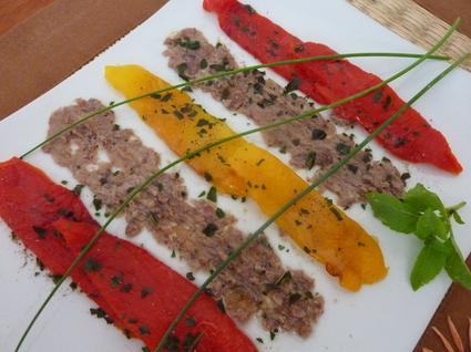 Recette de salade de poivrons marinés, sauce figue-anchois