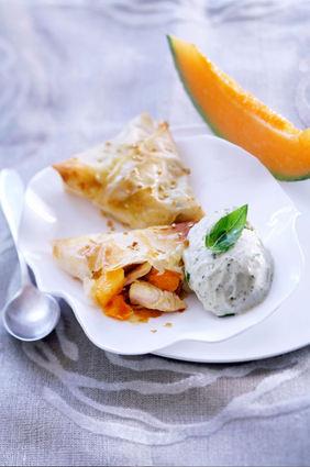 Recette de croustillant de poulet et melon chaud et sa crème glacée ...