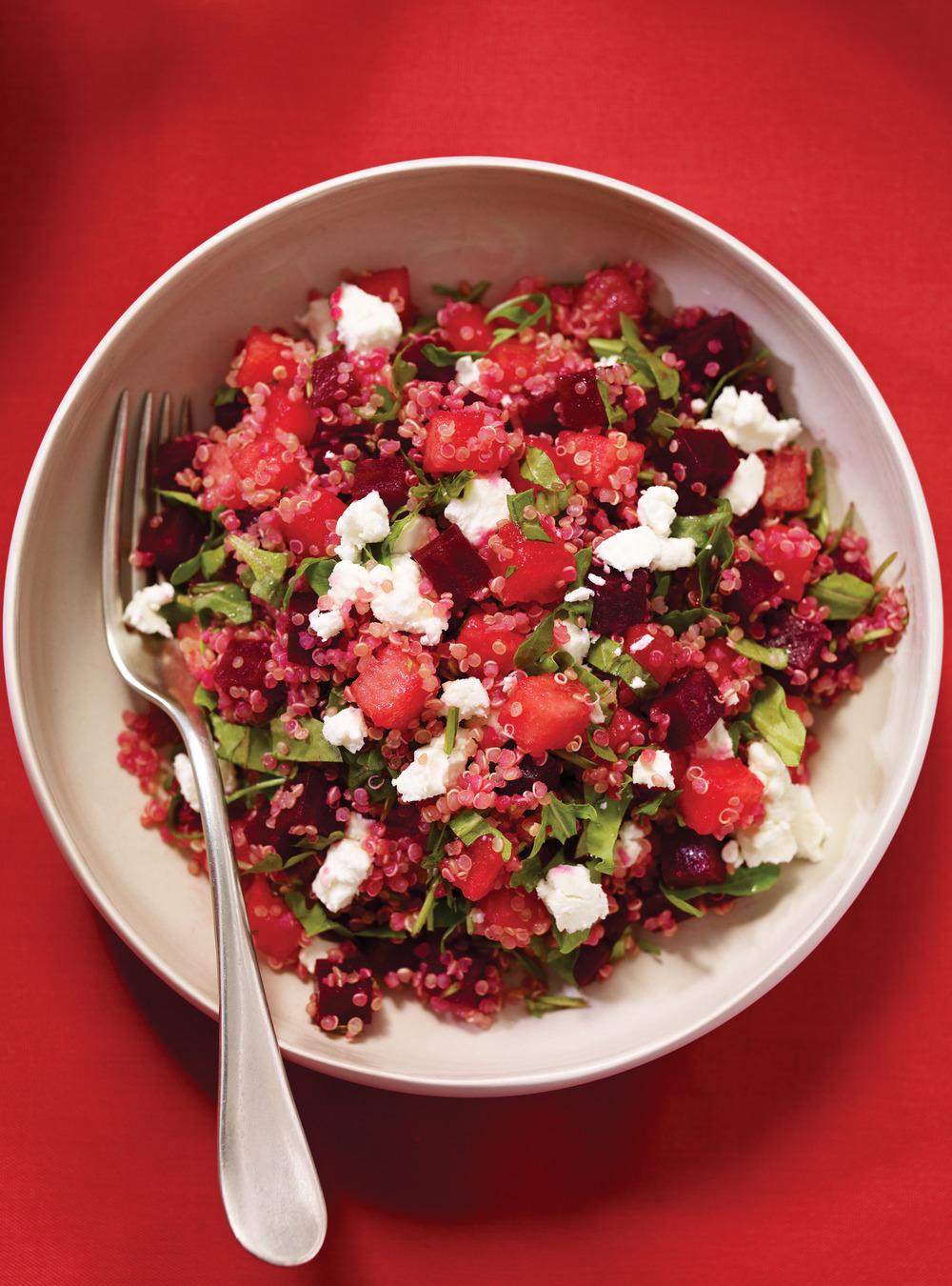 Salade de quinoa au melon et aux betteraves | ricardo