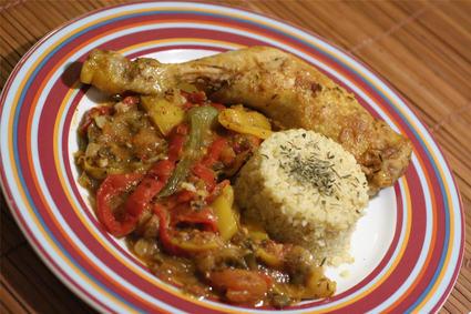 Recette de poulet basquaise