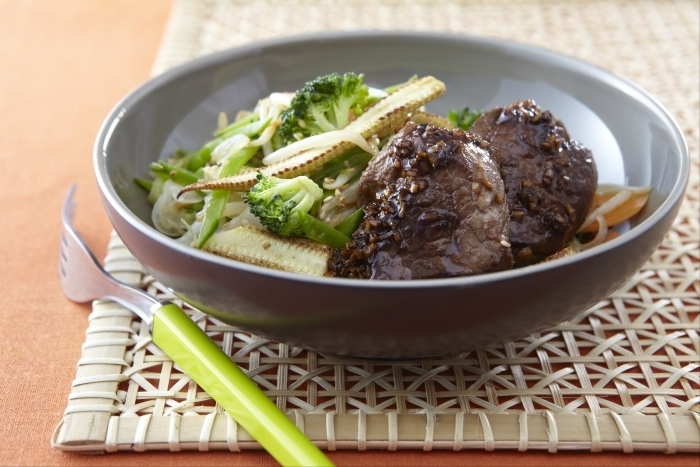 Recette de boeuf teriyaki, wok de légumes croquants facile et rapide