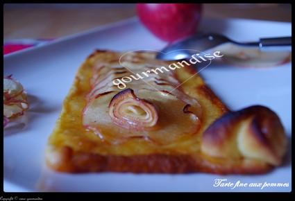 Recette de tarte fine aux pommes, cannelle et miel