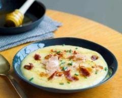 Recette soupe de maïs et céleri au miel de fleurs