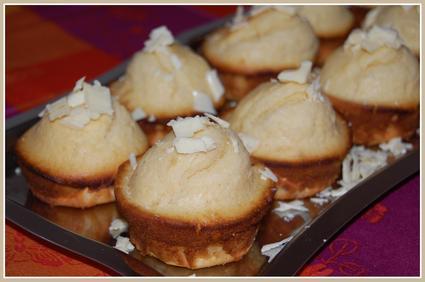 Petits muffins moelleux au chocolat blanc