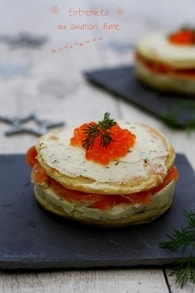 Recette d'entremets salé au saumon fumé et fromage frais