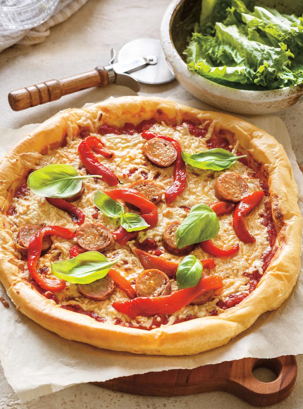 Pizza sans lactose, sans protéines bovines et sans gluten | ricardo