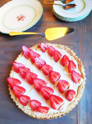 Recette de tarte aux fraises et mascarpone