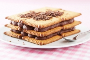 Recette de gâteau de petits-beurre au chocolat facile et rapide