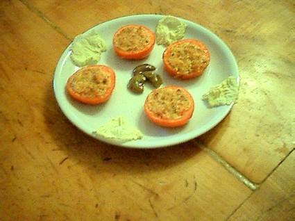 Recette de tomates farcies au chèvre et jambon cru