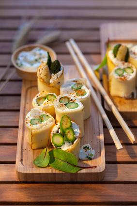 Recette de bouchées d'asperges, piment d'espelette et fol epi