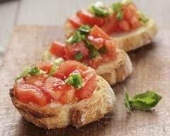 Recette bruschetta italienne à la tomate