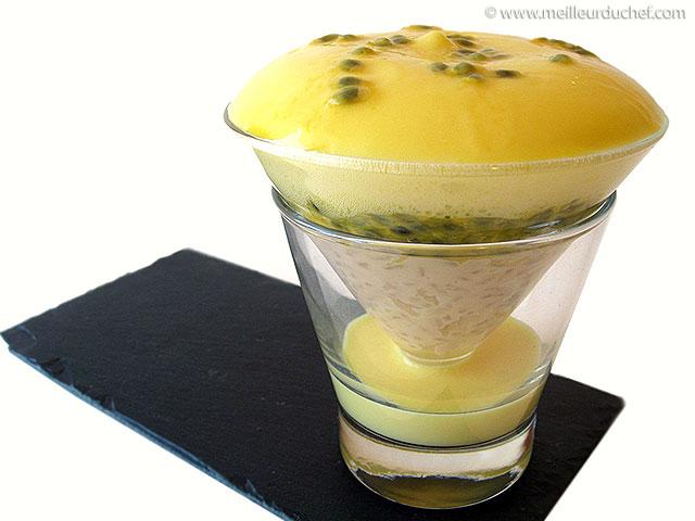 Riz au lait et espuma de mangue  la recette illustrée ...