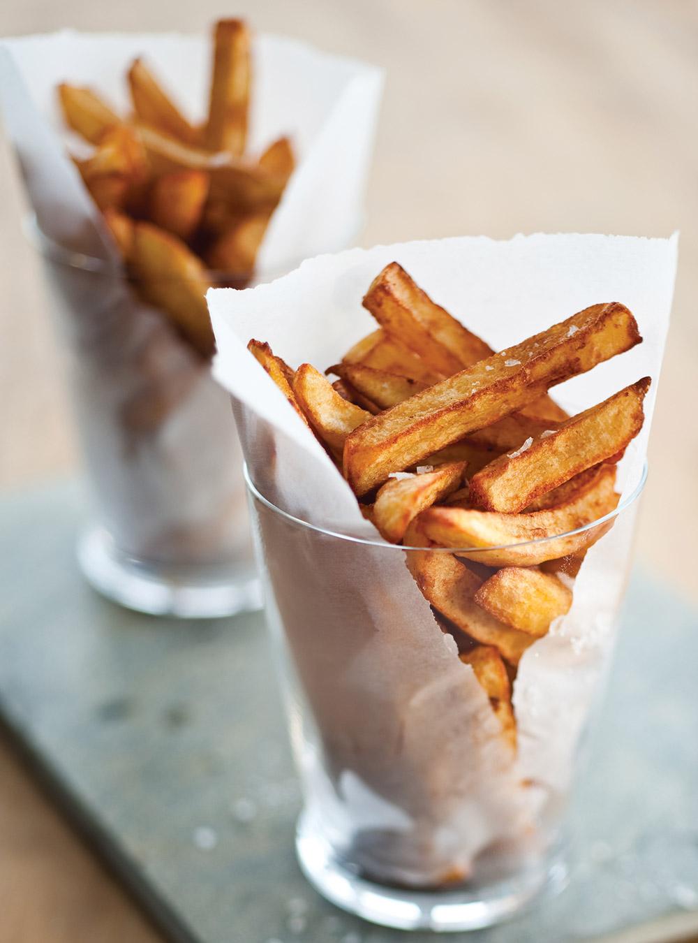 Recette les big frites croustillantes recette - Frites pour friteuse au four ...
