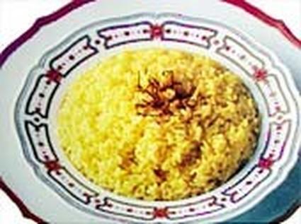 Recette de riz pilaf au miel et curry