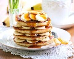 Recette pancakes faciles bananes et caramel
