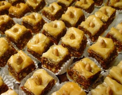 Recette baklawa aux amandes (gâteau)