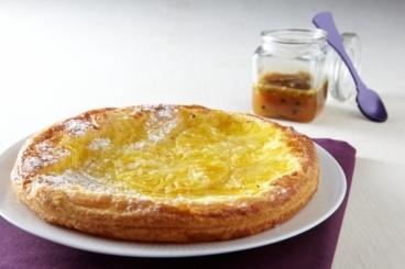 Recette de tarte feuilletée à l'ananas et caramel passion facile et ...