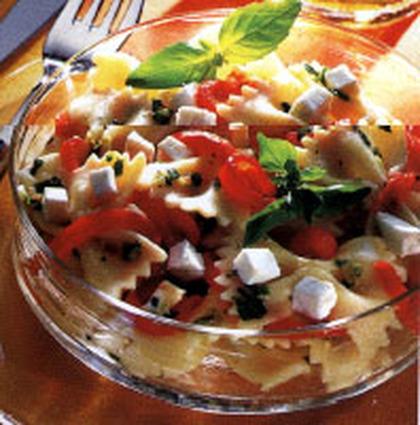Recette de salade de pâte au chèvre et poivron