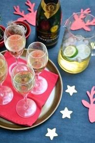 Soupe de champagne pétillante