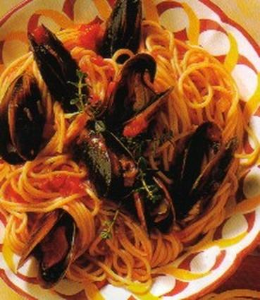 Recette de spaghettis aux moules de bouchot