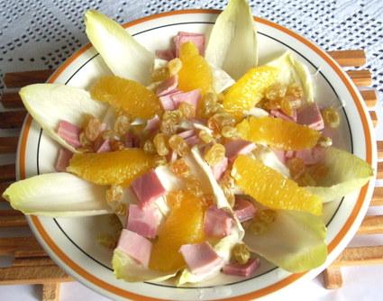 Recette de salade d'endives à l'orange