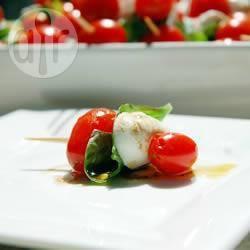 Recette brochettes de tomates, basilic et mozzarella – toutes les ...
