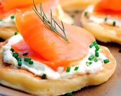 Recette blinis au saumon