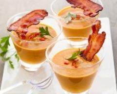 Recette soupe de carottes, ail et lard