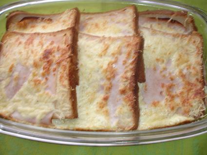 Recette de pain perdu salé au four
