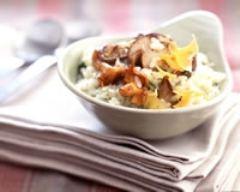 Recette risotto de champignons et mimolette