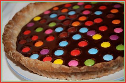 Recette de tarte chocolatée aux smarties