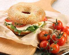 Recette bagel à l'italienne au pesto