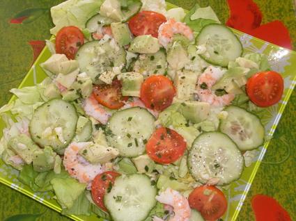 Recette de salade de crevettes et d'avocat