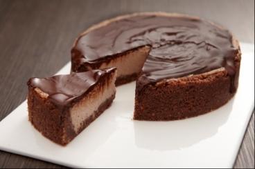 Recette de cheesecake au cacao et zestes d'orange, nappage ...