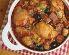 Recette poulet, légumes et olives en cocotte