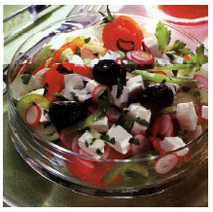Recette de salade fraîche au chèvre