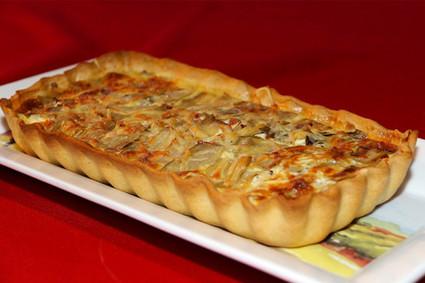 Recette de tarte aux blettes, allumettes de poulet et gruyère râpé ...