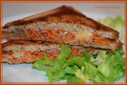 Recette de croque carottes-thon-cantal