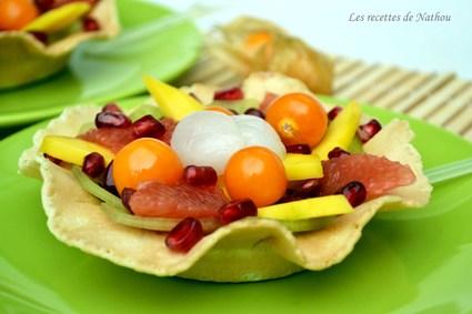 Recette de salade de fruits exotiques, rhum et citron vert