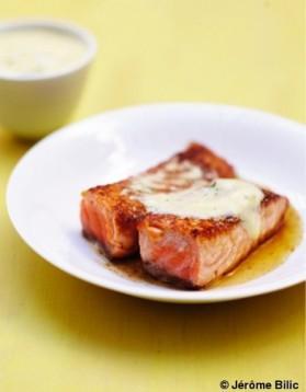 Saumon grillé au miel, sauce hollandaise à l'aneth pour 6 ...