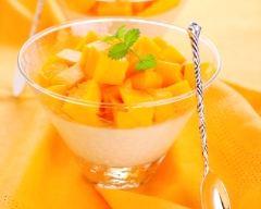 Recette panna cotta vanille et mangue