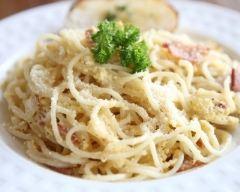 Recette spaghettis carbonara