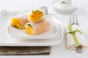 Recette de rouleau de printemps mangue et menthe facile et rapide