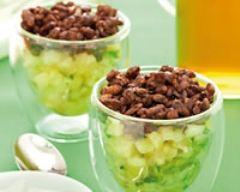 Recette riz soufflé chocolaté façon crumble à l'ananas frais