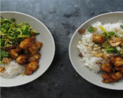 Recette salade de mangue verte au poulet croustillant